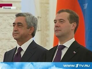 В Москве прошли переговоры Медведева и Саргсяна