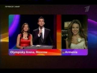 Евровидение-2009: Сирушо объявляет результаты голосования