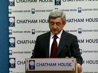 Serzh Sargsyans speech at the Chatham House part 2